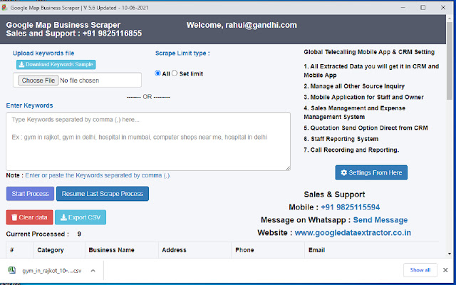 Leads Extractor - Global Gym Software