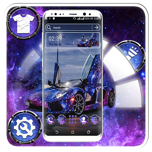 Blue Glitter Car Launcher Theme Android APK Download Free By Studio Five Inc