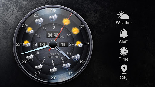 Weather Forecast with Analog Clock  screenshots 16