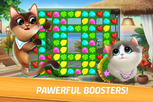 Meow Match: Cats Matching 3 Puzzle & Ball Blast apkpoly screenshots 5
