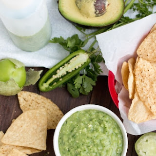 Avocado-Tomatillo Salsa Verde - Mexican Green Table Sauce