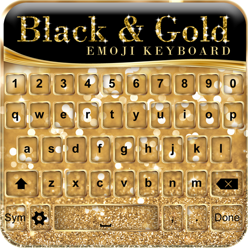 Black and Gold Emoji Keyboard