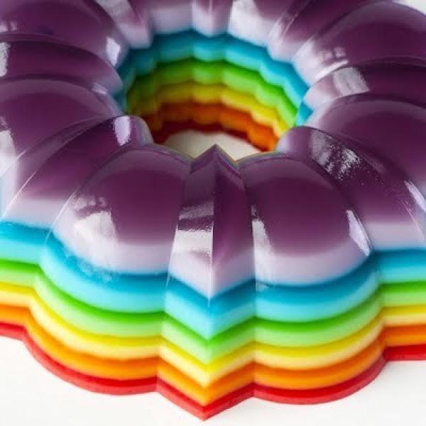 Rainbow Jello Mold Recipe