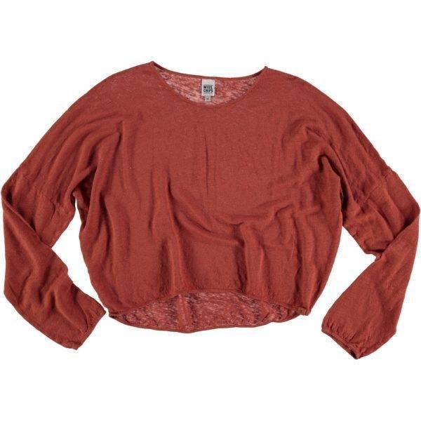 Long Sleeve Linen T-shirt Spice