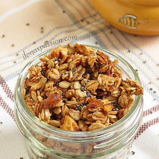 Honey Almond Chia Granola