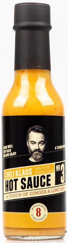 Hot Sauce No. 3 - Ginger & Lime Leaf - vindstyrke 8 – Chili Klaus