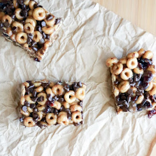 Chocolate Cranberry Cereal Bars.