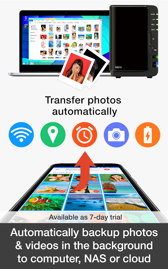 PhotoSync – transfer and backup photos & videos- スクリーンショット