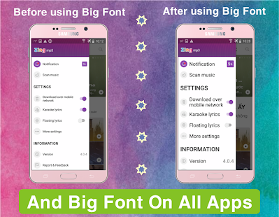 how to change font color on android phone