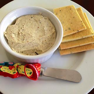 Roasted Garlic Basil Cheese Dip and Homemade Gluten Free Basil Crackers