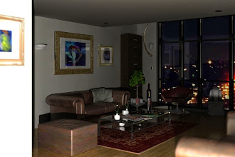 """Photo: 3D/Architectural Visualisation: This 3d image was created with the purpose of emulating a professional camera taking a photo of a completely dark room, with """"flash exposure"""".  My software of choice was 3ds Max & Mental ray. The image came straight from 3Ds Max using Mental Ray; no additional post work was required.  Regards  Jamie"""