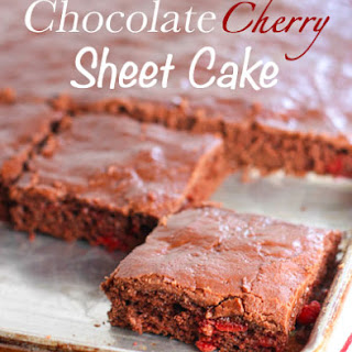 Chocolate Cherry Sheet Cake