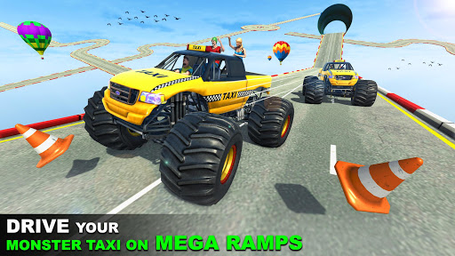 Mega Ramp Monster Truck Taxi Transport Games modavailable screenshots 3
