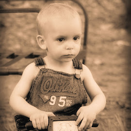Baby riding his car by Glenna Faye - Babies & Children Babies