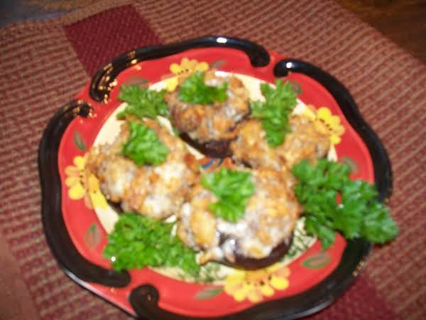 Sausage And Cheese Stuffed Mushrooms
