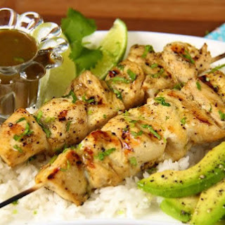 Morrocan Lemon Chicken Shish Kebabs.