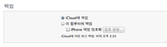 아이폰/아이패드 앱을 iCloud에 백업