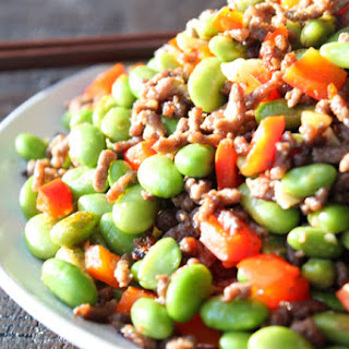 Easy Ground Beef and Edamame