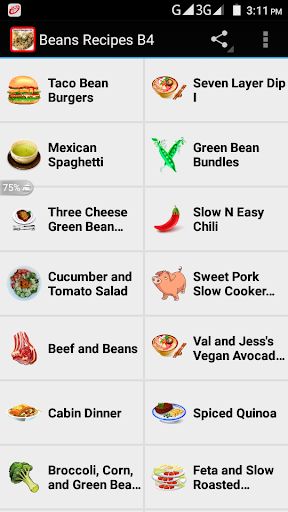 Beans Recipes B4 1.0 screenshots 2