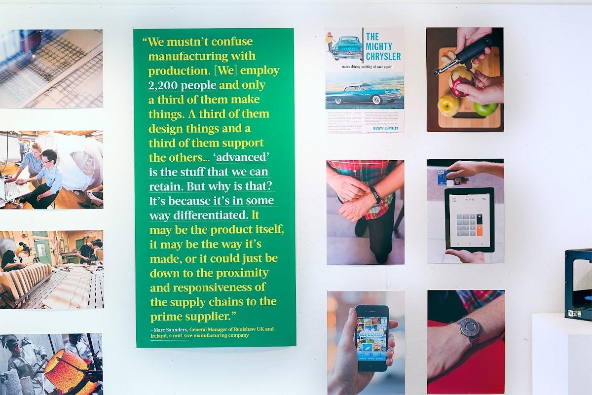 Micah Barrett Design, Technology, Innovation installation wall