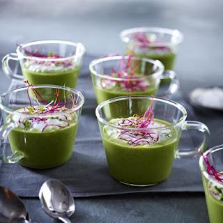 Watercress Soup with Horseradish Foam