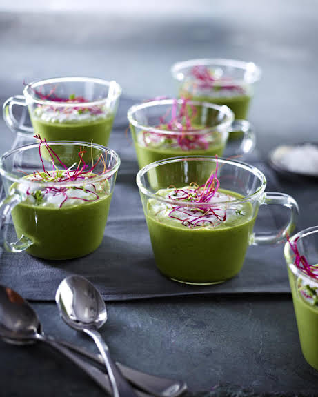 Watercress Soup with Horseradish Foam