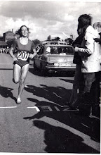 Photo: Jacqueline - 1974 W's Int'l Marathon, Waldniel, WGermany 5th place, 1st American