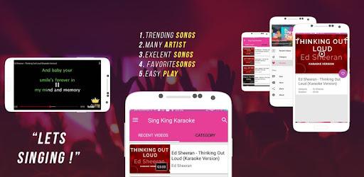 King sing karaoke