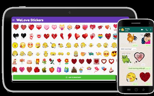 ? WeLove : love stickers (WAStickerApps) 2.2 screenshots 9