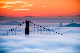 Photo: Good Morning G+ers  I hope everyone is waking up and able to pull themselves out of the fog of last nights partying this morning.  Here's another image from my morning up on Hawk Hill with +Amy Heidenduring my visit to San Francisco last week. It was an epic morning I shall not soon forget.  Prints are available at:http://bit.ly/1dXxaeL  #sanfrancisco  #goldengatebridge  #photography  #fog