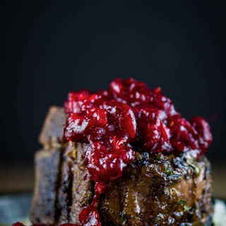 Braised Lamb Chops with Cranberry-Harissa.