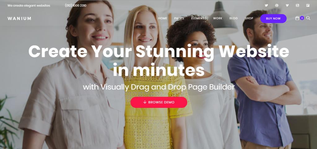 tema Wanium para sites wordpress mais rápidos