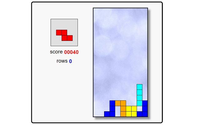 Chrome BlockTris Game