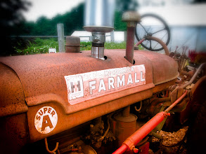 Photo: A well seasoned McCormick Farmall Super A farm tractor at Brooksby Farm Peabody MA  Attribution, Noncommercial, No Derivative Works
