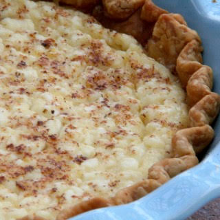 Heirloom Cottage Cheese Pie.