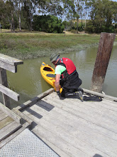 Photo: Miguel tying up at McInnis dock