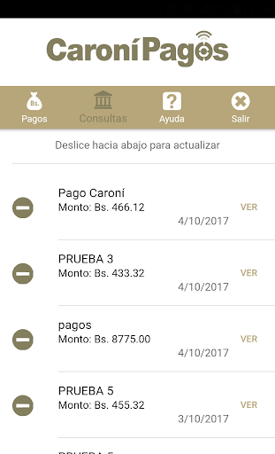Caronu00ed Pagos Banco Caronu00ed, C.A. Banco Universal 1.5.3 screenshots 4
