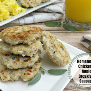 Homemade Chicken & Apple Breakfast Sausage.