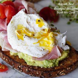 Avocado Toast Breakfast Sandwich.