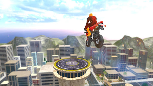 Super Hero Bike Mega Ramp 2 - screenshot