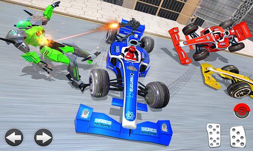 Police Chase Formula Car Transform Cop Robot Games screenshot 4