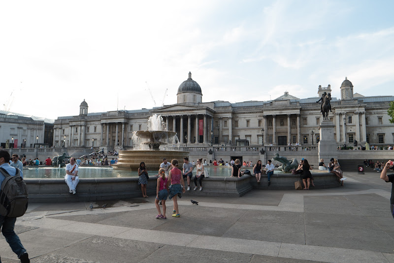 The National Gallery and Trafalgar Square