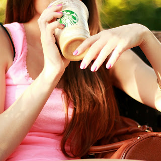 Make Your Own Starbucks Light Caramel Frappucino.