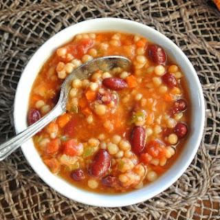Slow Cooker Pearl Couscous Soup
