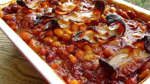 I Often Remove The Bacon After Cooking And Cut It Up Into Small Pieces And Mix It Back Into The Beans.