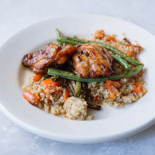 Cardamom & Honey Chicken Thighs With Green Beans & Quinoa
