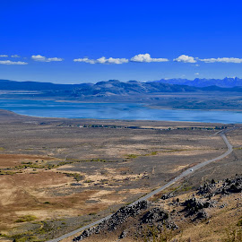 Mono Lake Overlook by Santford Overton - Landscapes Mountains & Hills ( landscapes, sky, adventure, mountains, blue, light, nature, hills, water, lake, photography )