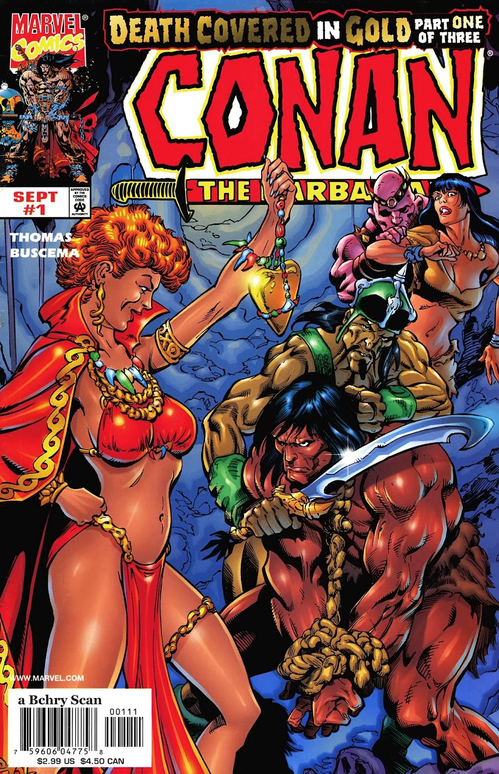 Conan the Barbarian - Death Covered in Gold (1999) - complete