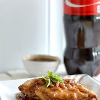 Baked Coca-Cola chicken.