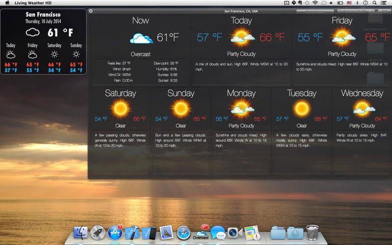 날씨에 따라 바뀌는 데스크탑 배경화면